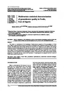 Multivariate statistical characterization of groundwater ... - Sciendo