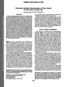Multivariate Statistical Characterization of Water Quality in ... - CiteSeerX