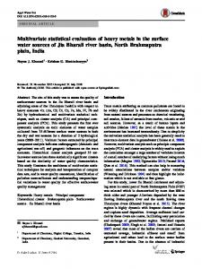 Multivariate statistical evaluation of heavy metals in the surface ... - Core