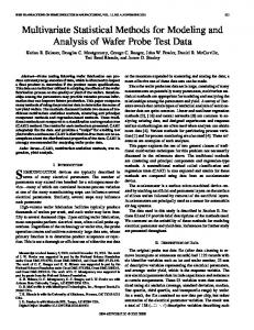 Multivariate statistical methods for modeling and analysis of wafer ...