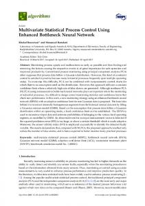 Multivariate Statistical Process Control Using Enhanced ... - MDPI
