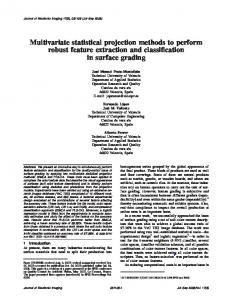 Multivariate statistical projection methods to ... - Semantic Scholar