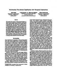 Multivariate Time Series Classification with Temporal ... - CiteSeerX