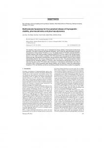 Multivesicular liposomes for the sustained release of
