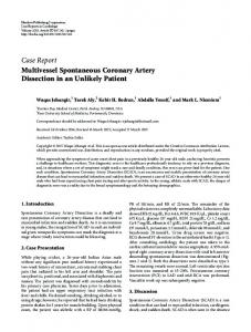 Multivessel Spontaneous Coronary Artery Dissection in an Unlikely ...
