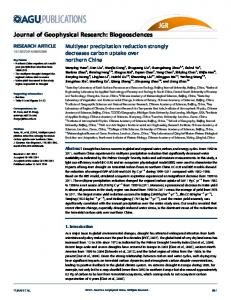 Multiyear precipitation reduction strongly ... - Wiley Online Library