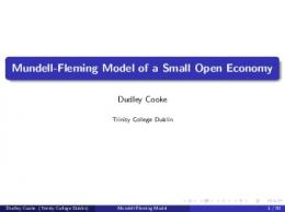 Mundell-Fleming Model of a Small Open Economy - LaGuardia ...