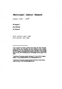 Municipal Labour Demand - CiteSeerX
