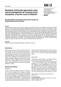 Municipal solid waste generation rates and its ... - SAGE Journals