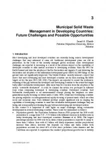 Municipal Solid Waste Management in Developing ...