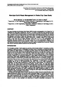 municipal solid waste management in dhaka city ...