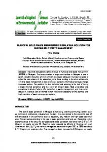 municipal solid waste management in malaysia ...