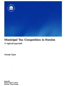 Municipal Tax Competition in Sweden - DiVA portal