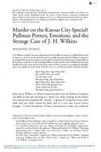Murder on the Kansas City Special? Pullman Porters ...