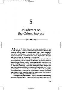 Murderers on the Orient Express