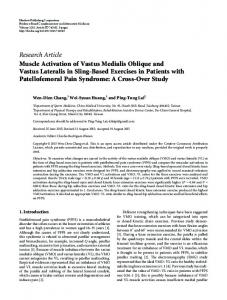 Muscle Activation of Vastus Medialis Oblique and Vastus Lateralis in ...
