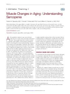Muscle Changes in Aging: Understanding Sarcopenia