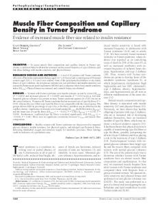 Muscle Fiber Composition and Capillary Density in Turner Syndrome