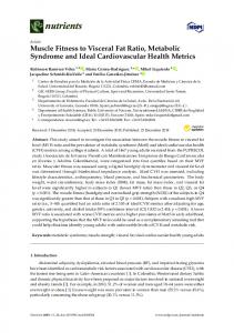 Muscle Fitness to Visceral Fat Ratio, Metabolic Syndrome and ... - MDPI