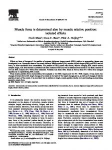 Muscle force is determined also by muscle relative ... - Semantic Scholar