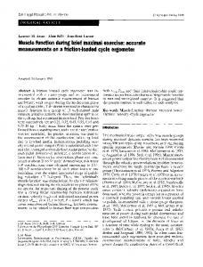 Muscle function during brief maximal exercise ... - Springer Link