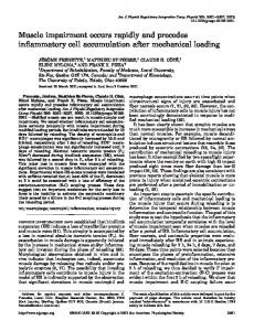 Muscle impairment occurs rapidly and precedes inflammatory cell ...