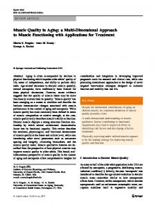 Muscle Quality in Aging: a Multi-Dimensional Approach to Muscle ...