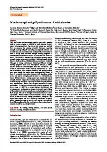 Muscle strength and golf performance - Journal of Sports Science and ...