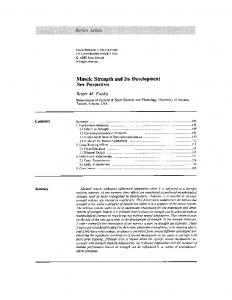 Muscle Strength and Its Development - Springer Link