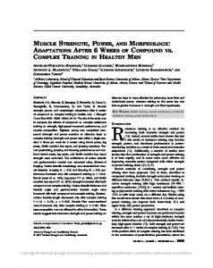 muscle strength, power, and morphologic adaptations ...