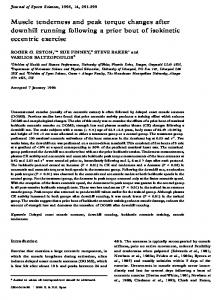 Muscle tenderness and peak torque changes after ...