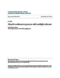 Muscle weakness in persons with multiple sclerosis