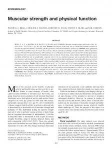 Muscular strength and physical function