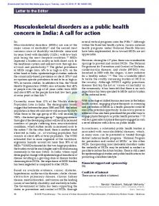 Musculoskeletal disorders as a public health concern