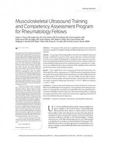 Musculoskeletal Ultrasound Training and ... - Wiley Online Library