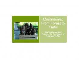 Mushrooms - Oregon State University Extension Service