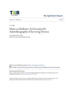 Music as Medicine: An Evocative Bi-Autoethnography of ... - NSUWorks