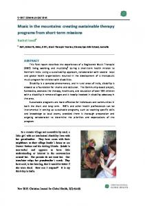 Music in the mountains - Christian Journal for Global Health