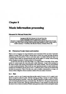 Music information processing