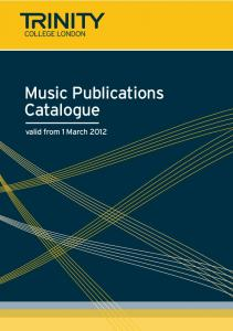 Music Publications Catalogue 2012