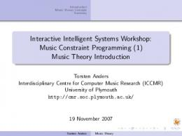 Music Theory Introduction