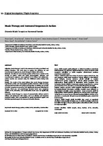 Music Therapy and Hormonal Responses in