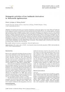 Mutagenic activities of ten imidazole derivatives in