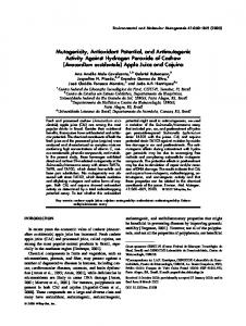 Mutagenicity, antioxidant potential, and ... - Wiley Online Library