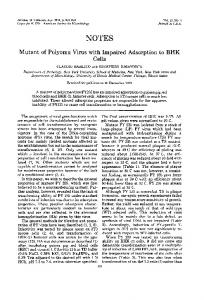Mutant of Polyoma Virus with Impaired Adsorption ... - Journal of Virology