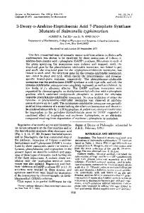 Mutants of Salmonella typhimurium - Journal of Bacteriology