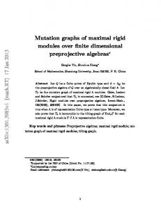 Mutation graphs of maximal rigid modules over finite dimensional ...