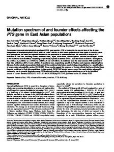 Mutation spectrum of and founder effects affecting the ...