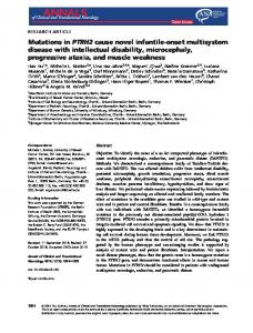 Mutations in PTRH2 cause novel infantile& ... - Wiley Online Library