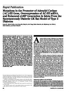 Mutations in the promoter of adenylyl cyclase (AC)-III gene ...